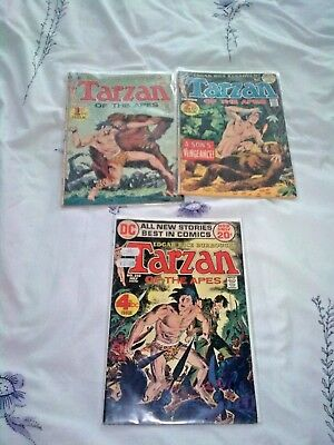 TARZAN OF THE APES...DC Comics 3 ISSUES! ALL VERY FINE.