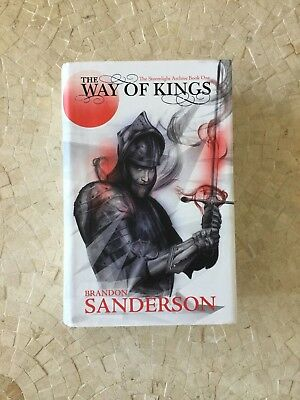 THE WAY OF KINGS by Brandon Sanderson 1st/1st UK HB SIGNED (Stormlight Archive)
