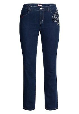 Joe Browns Damen Jeans Hose Strick gerade  Stretch Pants dunkel Blau Denim NEU