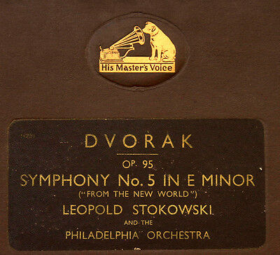 "DVORAK SYMPH. NO. 5 E MINOR ""FROM THE NEW WORLD"" Philadelphia O. & StokowskiA158"