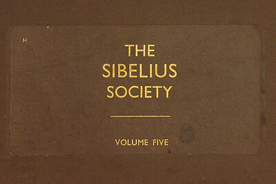 "LONDON PHILHARM. & BEECHAM ""The Sibelius Society V"" Symph: No 4 Op. 63 u.a. A217"
