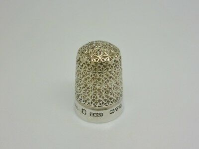 Antique Edwardian 1913 Sydney & Co Solid Sterling Silver Thimble - Rd 426659