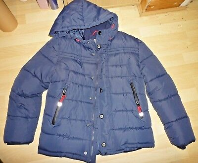 Boys Winter Coat Padded M&S Navy Blue 11-12 Years Excellent Condition Warm