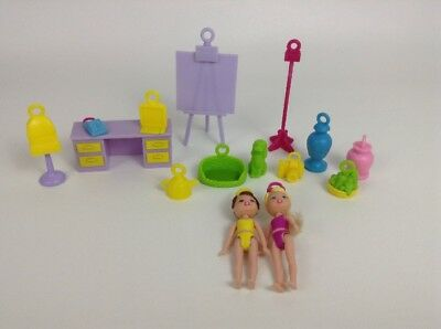 LOT (15 Pc) Spin Master 2000 Key Charm Cuties Doll Figures w/ Accessories