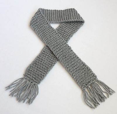 Silver Grey Knit Baby Scarf Boy or Girl Photo Prop Winter Scarves Child Infant