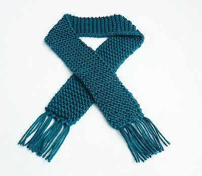 Teal Ocean Blue Knit Baby Scarf Boy or Girl Winter Scarves Child Newborn Prop