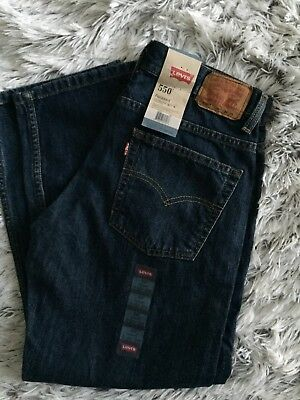 NWT Boy's size 10 Husky  30X26 LEVI'S 550 Relaxed Fit, Hawthorne, Dark Blue