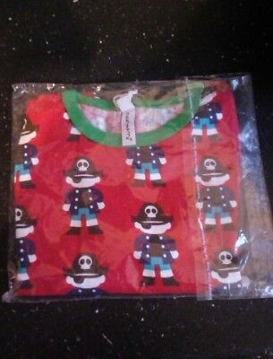 maxomorra red boy pirate long sleeved top - size 86 18 months BNWT