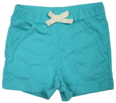 NWOT Hanna Andersson Girls Size 3 90 CM Turquoise Blue Cotton Drawstring Shorts