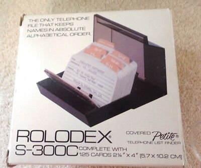 Vintage Rolodex S-300C Card Covered Petite Telephone File