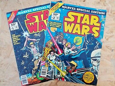 Star Wars Treasury Edition #1 + #2 - Marvel UK - 1978
