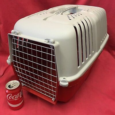 "Plastic Rabbit Guinea Pig Carrier Box 18 x 12"" Vets Transport Carrying Air Vents"