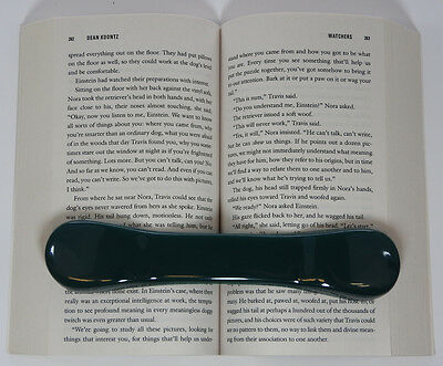 BookBone® Weighted Rubber Bookmark - Holds Books Open - GREEN - Made in USA