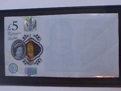 Scarse New £5 Note MISSING PRINT Error.Used Note in Good Condition