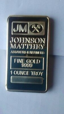 lingot Johnson Matthey 1 ounce troy