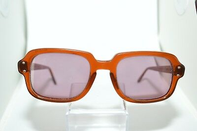 2bae7ed0b494 VINTAGE MILITARY ROMCO Brown Frame Issued PX Sunglasses USS 4 1/2 X ...