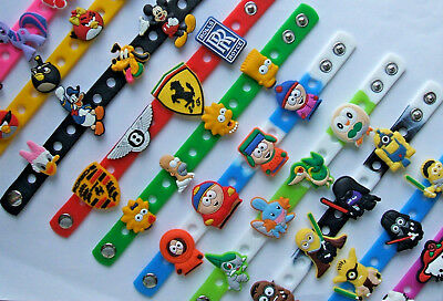 SHOE CHARM BRACELETS SILICONE (21cm) - inspired by CUTE CARTOON CHARACTERS