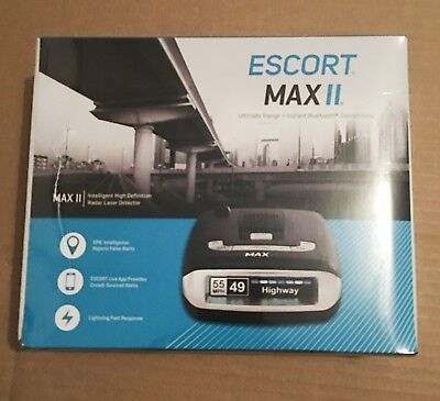 NEW Escort Max ll 2 Inteligent HD Radar Detector DSP, Bluetooth SEALED IN BOX