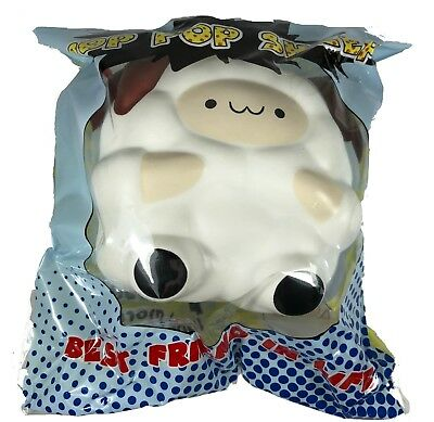 White Medium Size Pop Pop Sheep Squishy by Pat Pat Zoo