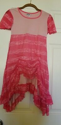 **New without tags** girls pink ruffled dress! With dolly dress!