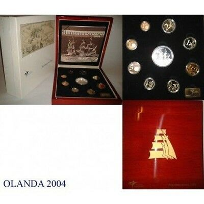 2004 Holland Divisional Proof Sailing Ships 9 Coins Mf8831