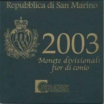2003 San Marino Divisional Coins Fdc Packaging Mf9618