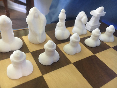 Penis chess set (pieces only, board not included) / hand made chess set
