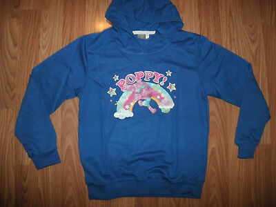 Girls Dark Blue HOODIE Long Sleeve POPPY! Rainbow Cupcake Cloud Stars Colorful