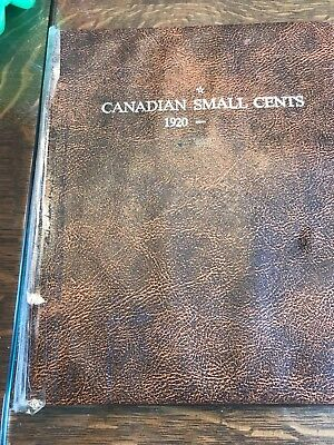 1920-2002 Canadian Small Cent Album 91 Coins!