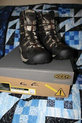 New in Box Mens Keen Utility Sheridan Insulated Comp Toe Brown SZ 8 EE MSRP $220