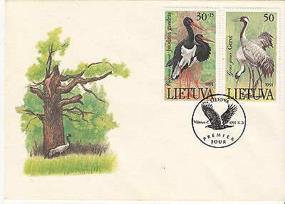 Lithuania 1991 Birds on Cover Very Fine Used