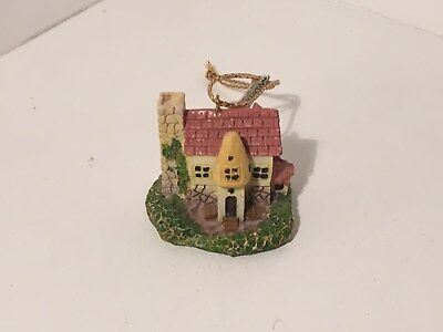 Christmas Ornament Miniature Resin Cottage Midwest Importers #17