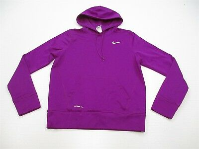NIKE K6815 Youth Girl's Size M Thermal Lined Knit Purple Hoodie Sweatshirt