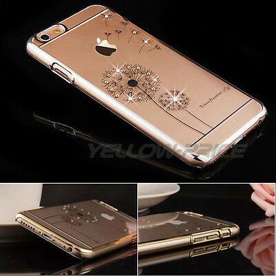 Fashion Crystal Diamond Dandelion Freedom Element Case Cover for iPhone 6s Plus