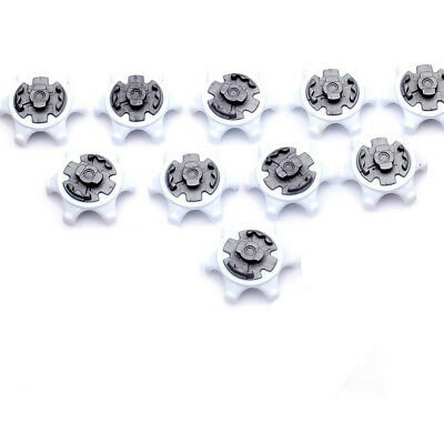 10pc White Durable Golf Shoe Soft Spike Pins Thread Replacement Outdoor Supply A
