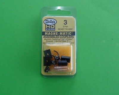 KADEE HO 3 MAGNE- MATIC Assembled Couplers, 2 X Pair, Ready to use, NEW