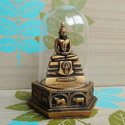 "Thai Buddha Sothorn Statue Meditation Powerful Blessed Holy Home Decor 5.7 ""H"