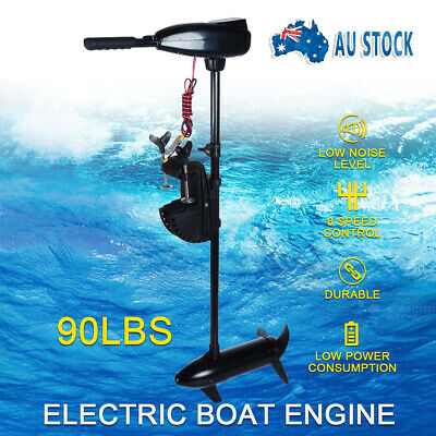 NEW 90LBS Electric Trolling Motor Fishing Marine Inflatable Boat Outboard Engine