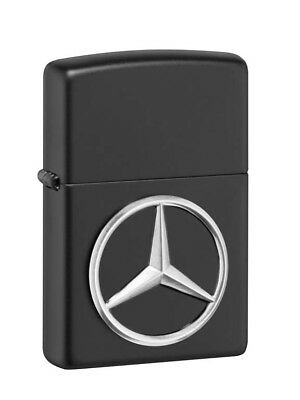 Original Mercedes-Benz Zippo® Feuerzeug Schwarz Black Edition Messing mit Stern