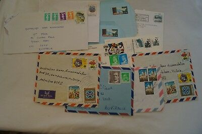 Group Lot of 11 Vintage-Various Addressed Envelopes& Stamps-Europe & Middle East