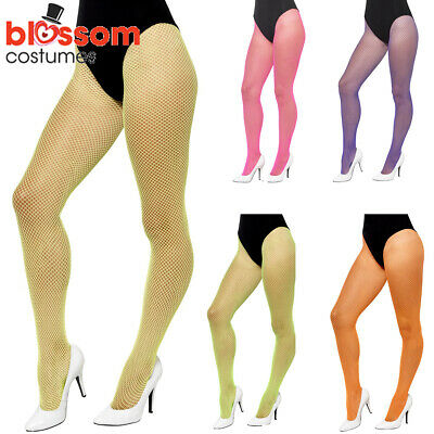 AC340 Neon Fishnet Stockings Pantyhose Costume Tights Pants 80s 1980s Madonna