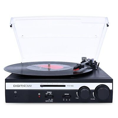 3 Speed Vinyl Turntable Record Player with Built-in Stereo Speakers