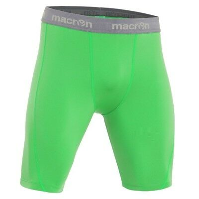 MACRON QUINCE NEON GREEN BASELAYER SHORTS - Various Sizes Available