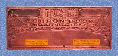 Ice Coupon Booklet, Allison Company - Master Letterpress Printer's Block - Rare