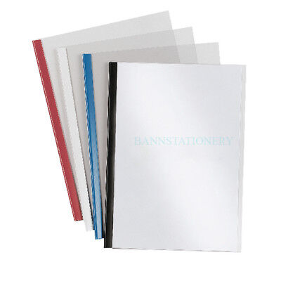 Pack of 4 A4 Slide Binder & Clear Cover and Backing Board Set 5mm (up to 30pgs)
