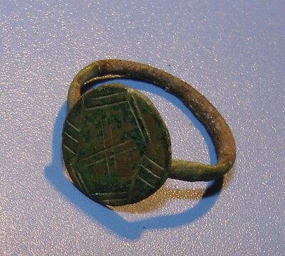 ANCIENT BIG RING 17 - 18 century. SLAVS. BRONZE. ORIGINAL