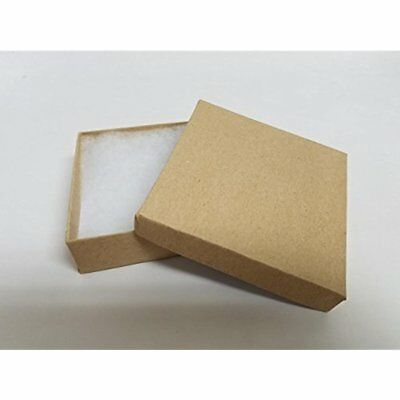 Brown Kraft Square Cardboard Jewelry Gift Boxes 3.5 1 Inches-16 Pack