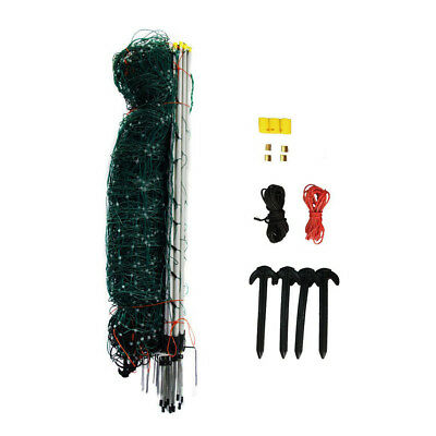 Electric Netting Fence Kit 10/42/7 Green 164' Chicken Sheep Dog Fencing