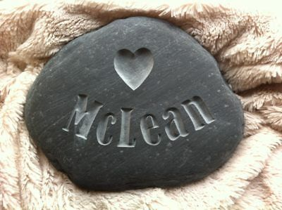 Hand carved personalized pet memory in natural stone dog cat horse snake animal
