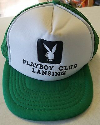 Vintage Playboy Club Green Hat Lansing Michigan